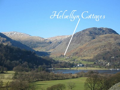 Our Cottage location above Glenridding and Ullswater