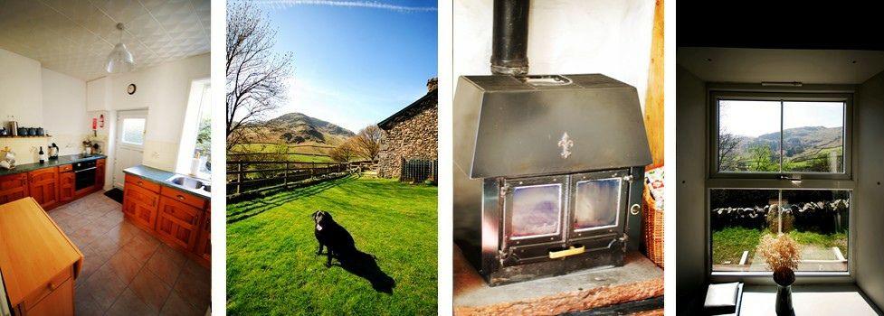 1 Helvellyn Cottage Photos - Kitchen - Garden - Woodburner - Window View