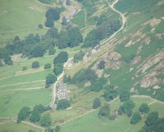 View from the fell looking down on the cottages - Photo Mr & Mrs Leigh