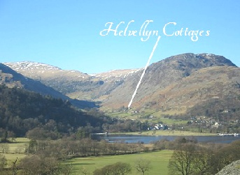 Helvellyn Cottages across from Ullswater