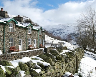 The cottages in the snow - Photo courtesy of Julia Knox